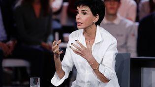 """Rachida Dati, le 24 janvier 2019 sur le plateau de """"L'émission politique"""", sur France 2. (GEOFFROY VAN DER HASSELT / AFP)"""