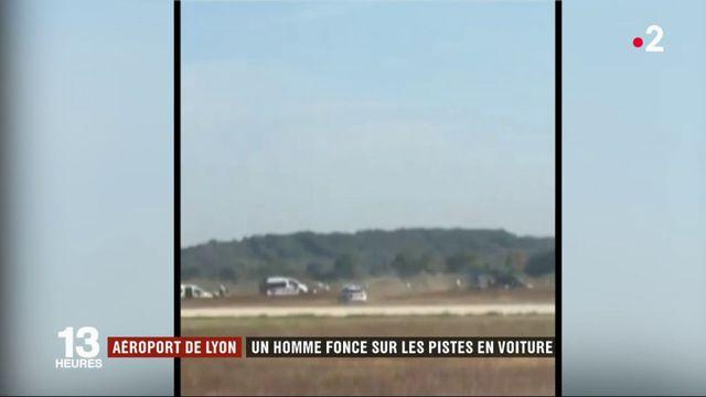 Aéroport de Lyon : un homme fonce sur les pistes en voiture