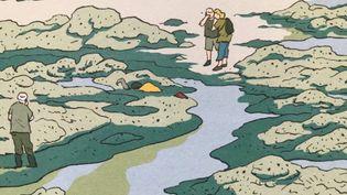 """""""Les algues vertes"""" dessinées par Pierre Van Hove dans la BD d'enquête réalisée avec la journaliste Inès Léraud. (DELCOURT)"""