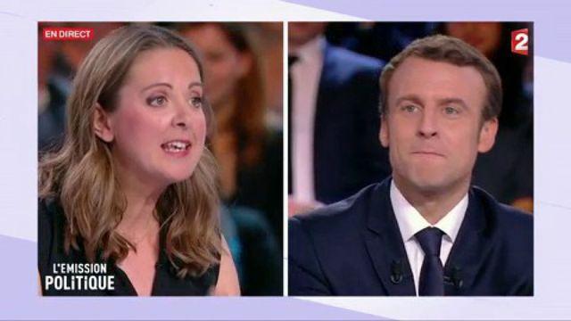 La chronique de Charline Vanhoenacker face à Emmanuel Macron