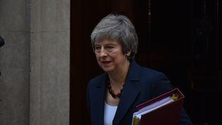 La Première ministre britannique, Theresa May, le 14 novembre 2018 à Londres. (ALBERTO PEZZALI / NURPHOTO / AFP)