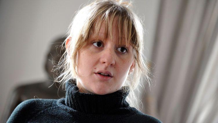 Cécile Bourgeon, la mère de Fiona, le 18 mai 2013 à Clermont-Ferrand (Puy-de-Dôme). (MAXPPP)