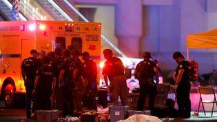 Les circonstances de cette fusillade, qui a eu lieu dimanche 1er octobre à Las Vegas (Etats-Unis), restent floues et les mobiles du tireur sont inconnus. (STEVE MARCUS / REUTERS)