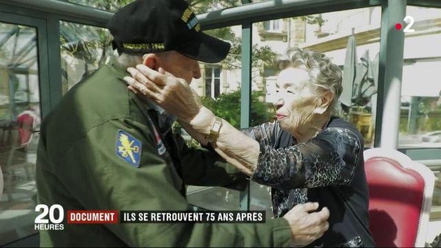 """""""Tu n'as jamais quitté mon cœur"""" : 75 ans après, les retrouvailles d'un soldat américain et de la Française qu'il a aimée pendant la guerre"""