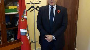 Le ministre des Finances de l'île de Man, Alfred Cannan, en novembre 2017. (RADIO FRANCE / JÉRÔME JADOT)