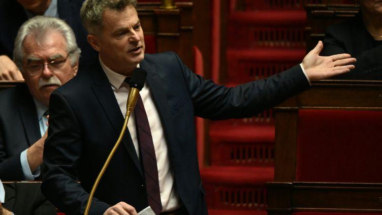 Le secrétaire général du Parti communiste (PCF), Fabien Roussel, à l'Assemblée nationale, le 10 décembre 2019. (DOMINIQUE FAGET / AFP)