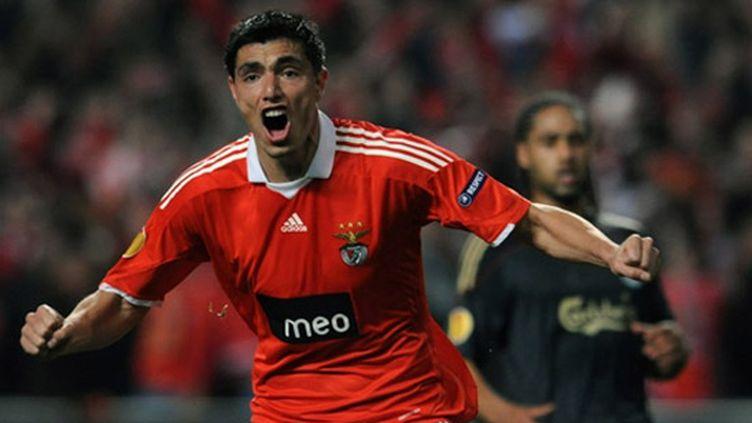 La joie de l'attaquant du Benfica Cardozo