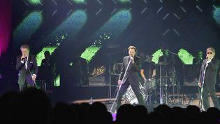 Eddy Mitchell,Johnny Hallyday etJacques Dutronc en concertau Palais Omnisports de Paris-Bercy le6 novembre 2014 (SIPA)