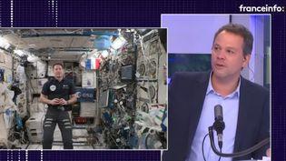 L'astronaute français Thomas Pesquet interrogé par Marc Fauvelle le 22 septembre 2021 (FRANCEINFO / RADIO FRANCE)