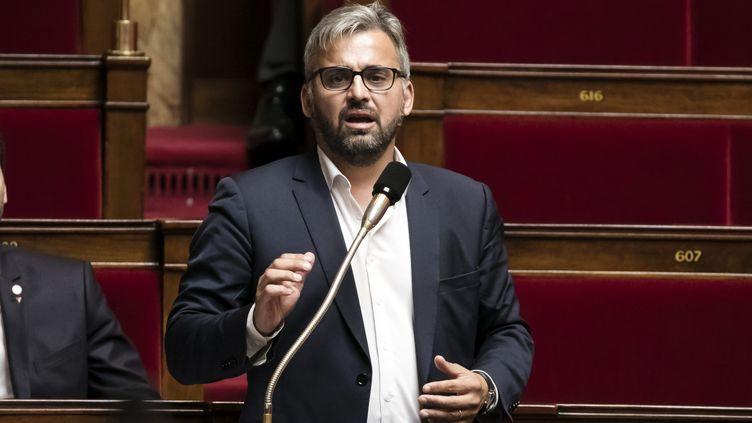 Le député La France insoumise Alexis Corbière en séance à l'Assemblée nationale, le 27 septembre 2017. (MAXPPP)