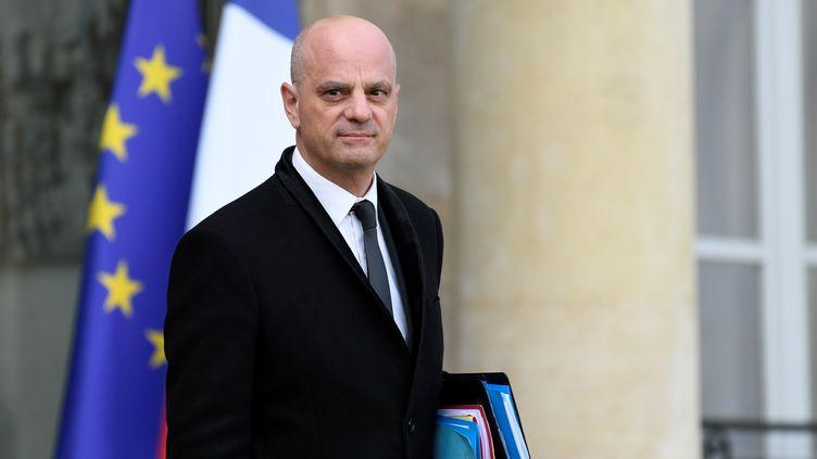 Jean-Michel Blanquer quitte l'Elysée à Paris, le 9 octobre 2019. (BERTRAND GUAY / AFP)