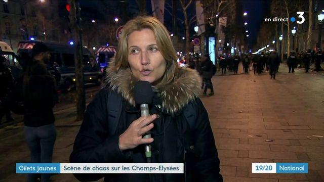 """""""Gilets jaunes"""" : scène de chaos sur les Champs-Élysées"""