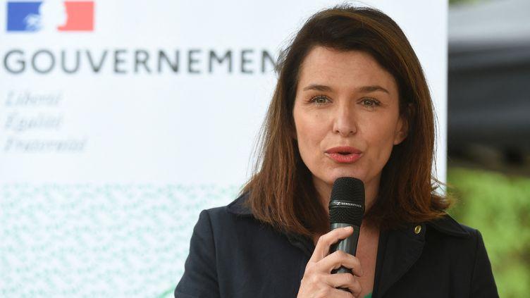 La présidente sortante de la région Pays de la Loire,Christelle Morançais, le 26 mai 2021. (JEAN-FRANCOIS MONIER / AFP)