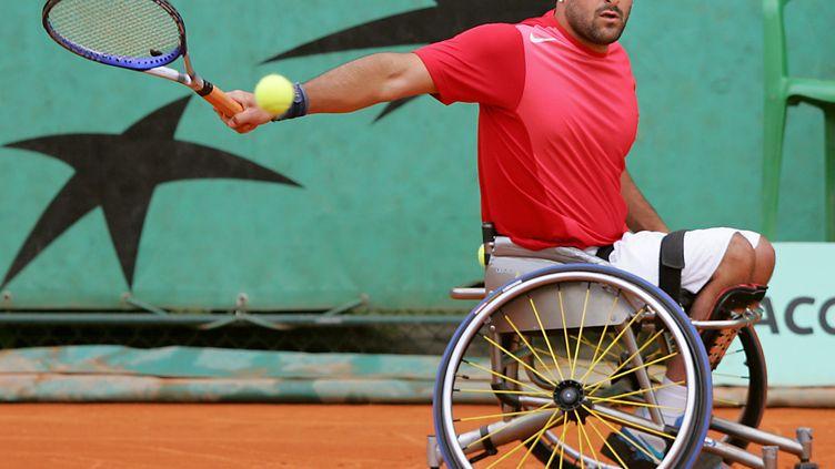 Le champion paralympique de tennis Michaël Jeremiasz. (REGIS DOUCET / AFP)