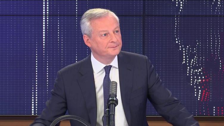 Bruno Le Maire, ministre de l'Économie, était l'invité de franceinfo lundi 29 mars 2021. (FRANCEINFO / RADIO FRANCE)