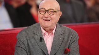 """Jean-Pierre Coffe sur le plateau de """"Vivement dimanche"""", l'émission dominicale de France 2, le 4 février 2015. (MAXPPP)"""