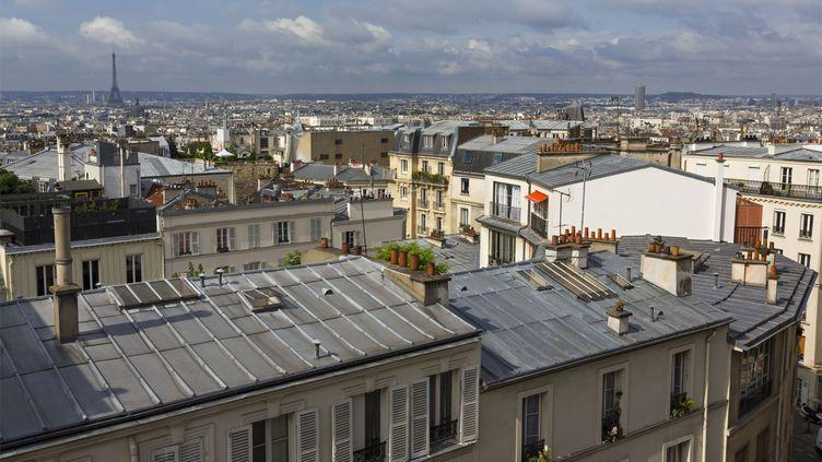 Paris vu depuis les hauteurs de Montmartre, le 28 juillet 2014. (PHILIPPE RENAULT / HEMIS.FR / AFP)