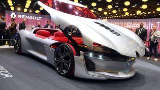 Renault, marque plus que jamais présente au Mondial de l'auto. (ULI DECK / DPA)
