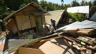 Photo du village de Pemenang au nord de Lombok le 7 août 2018. (SONNY TUMBELAKA / AFP)