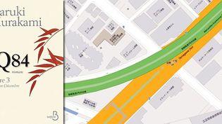 1Q84 Haruki Murakami. retour à la jonction entre la voie express n°3 et la Nationale 246  (Belfond)