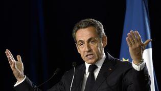 Nicolas Sarkozy, le 7 novembre 2014, lors d'un meeting à Paris. (STEPHANE DE SAKUTIN / AFP)