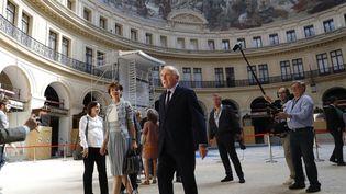 François Pinault lors de la présentation du projet en 2017. (PATRICK KOVARIK / AFP)