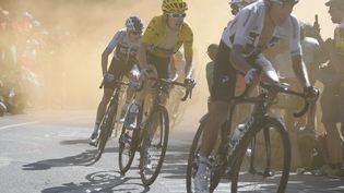 Le Britannique Geraint Thomas a remporté l'étape mythique de l'Alpe d'Huez, jeudi 19 juillet 2018. (YORICK JANSENS / BELGA MAG)