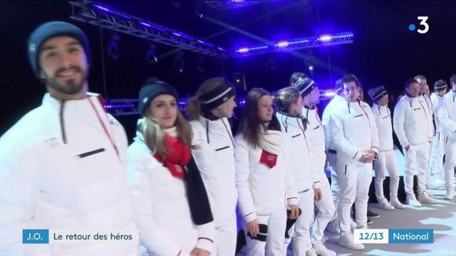 Jeux olympiques d'hiver 2018 : les médaillés français acclamés à leur retour