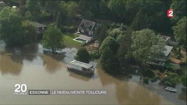La rivière Essonne monte toujours, survol de la zone inondée