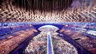 Le stade Maracana lors de la cérémonie d'ouverture des Jeux olympiques de Rio (Brésil), le 5 août 2016. (PAWEL KOPCZYNSKI / REUTERS)