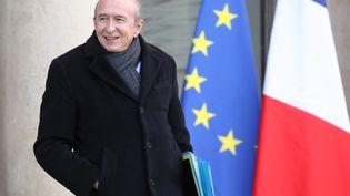 Gérard Collomb, à la sortie de l'Elysée, à Paris, le 17 janvier 2018. (LUDOVIC MARIN / AFP)