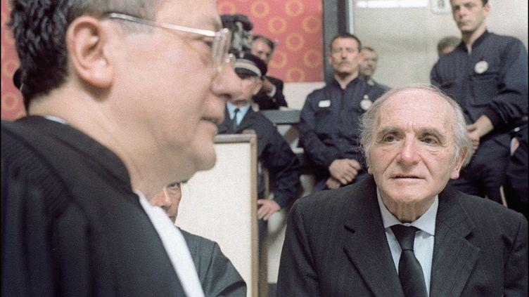 Le procès de Klaus Barbie pour crimes contre l'humanité, le 11 mai 1987 à Lyon. (AFP FILES)