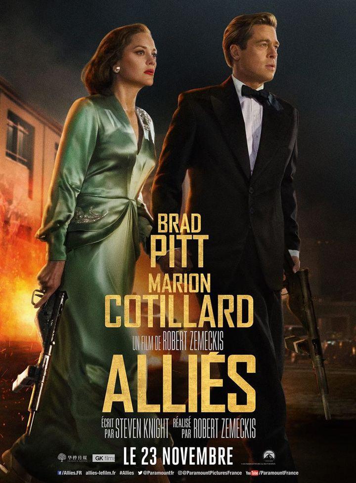 """""""Alliés"""" : l'affiche française  (Paramount Pictures France)"""