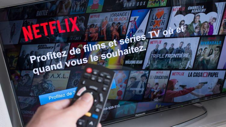 Photo d'illustration. Netflix a annoncé de nouveaux programmes français lors de l'inauguration de ses bureaux à Paris. (RICCARDO MILANI / HANS LUCAS)