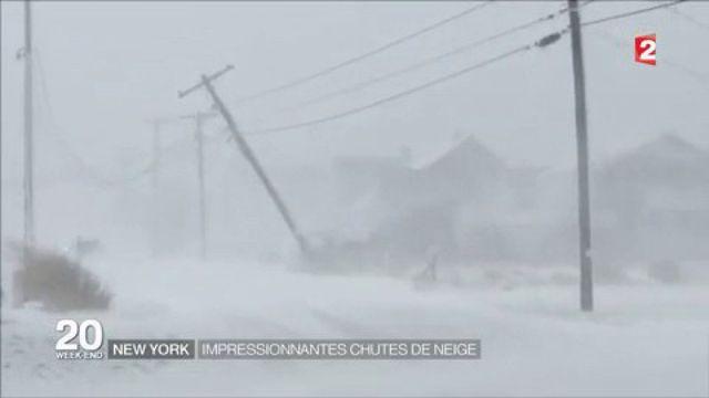 New York : impressionnantes chutes de neige