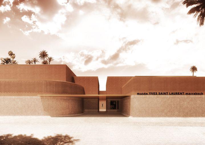 L'extérieur du musée Yves Saint Laurent à Marrakech  (Studio KO. Fondation Pierre Bergé-Yves Saint Laurent )