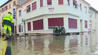 Tempête Bella : inondations et dégâts dans les Landes (France 3)
