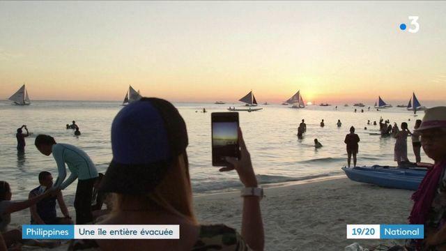 Philippines : une île évacuée pour être nettoyée
