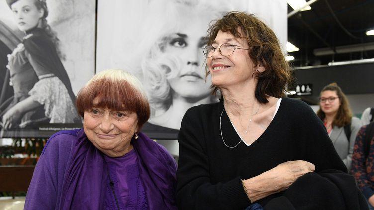 Agnès Varda et Jane Birkin à Angers  (PHOTOPQR/LE COURRIER DE L'OUEST/)