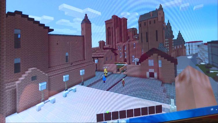Albi reconstituée sur Minecraft. (Capture d'écran d'Albicraft)