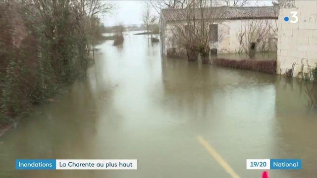 Inondations : en Charente-Maritime, le village de Courcoury est encerclé par les eaux