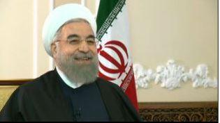 Le président iranien Hassan Rohani a reçu deux journalistes de France 2 et d'Europe 1 dans sa résidence de Téhéran pour une longue interview enregistrée le10 novembre 2015. (FRANCE 2 et EUROPE 1)