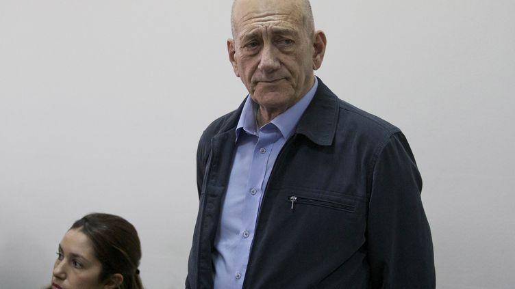 L'ex-Premier ministre israélien Ehoud Olmert à Jérusalem, le 30 mars 2015. (REUTERS)