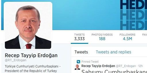 Sur son compte twitter, Erdogan est déjà président, avant même son investiture officielle. (DR)