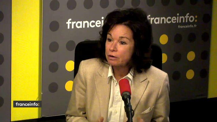 Sylvie Pierre-Brossolette, membre du CSA,invitée sur franceinfo. (RADIO FRANCE)