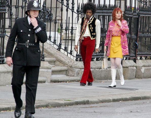 """Andre 3000, très crédible en Jimi Hendrix sur le tournage de """"All Is By My Side""""  (Droits réservés)"""