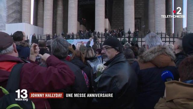 Une messe anniversaire, un an après la disparition de Johnny Hallyday