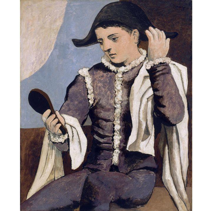 "Pablo Picasso, ""Arlequin au miroir"", Paris 1923, Musée national Thyssen-Bornemisza, Madrir  (Museo Nacional Thyssen-Bornemisza/Scala, Florence © Succession Picasso 2018)"
