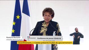La ministre de la Culture Roselyne Bachelot, le 29 octobre 2020, à Paris. (FRANCEINFO)