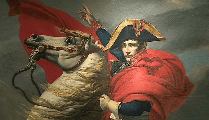 Tableau représentant Napoléon sur un destrier blanc lors du franchissement du Grand-Saint-Bernard  (France 3)